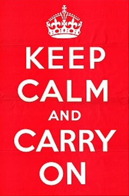 mantenha a calma e prossiga